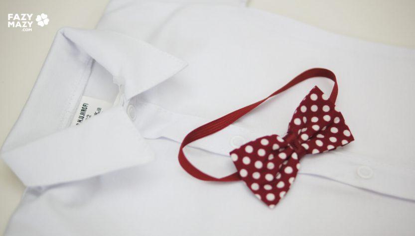 body dla niemowlaka z muszką ubranko z muszką