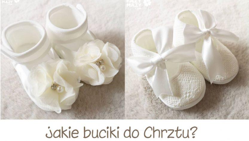 buciki do chrztu dla dziewczynki